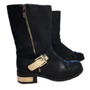 Vince Camuto Women's Black Wex Leather Boots 7